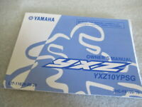 Yamaha YXZ YXZ10YPSG Owner's Manual P/N LIT-11626-29-39