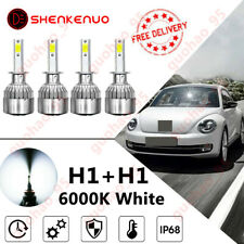 VW New Beetle 1Y7 H7 501 100w Clear Xenon HID Low//Side Headlight Bulbs Set