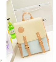 New Retro Vintage Casual Women's Backpack School Bag Travel PU Leather