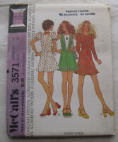 Vintage Dress Sewing Pattern*McCalls 3571*Size 14*UNCUT/FF*baby doll puff sleeve