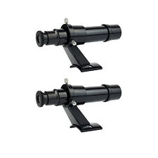 2pc 5x24 Finderscope Bracket Plastic Accessory Kit for Astronomy Telescope+Track