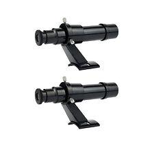 2pcs 5x24 Finderscope with Bracket Telescope Accessory Plastic + tracking#