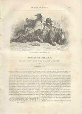 Voyage en Espagne MADRID Gustave Doré 1870 travel to SPAIN Le Tour du Monde