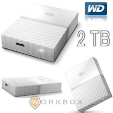 WD 2TB My Passport Hard Disk Esterno Portatile USB 3.0 Bianco WDBYFT0020BWT-WE..