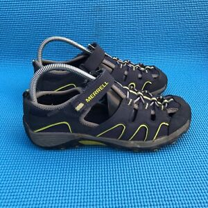 MERRELL Hydro H20 Boys Size 6 M Hiking Sandals Navy Blue Leather Athletic Shoes