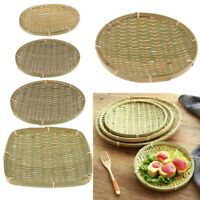 Handmade Woven Bamboo Baskets Dustpan Fruits Vegetables Keys Wallet Storage