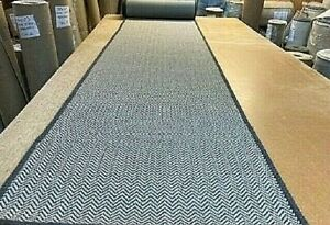 WOVEN RUG/CARPET STAIR/HALL RUNNER 61cm x 695cm INDOOR/OUTDOOR USE GEL BACK