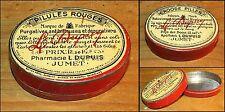 boite litho médicale Pilules Rouges Purgatives L. Dupuis Jumet Bruxelles 1900-30