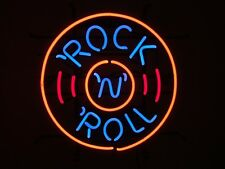 1950's American Style Retro Neon Diner Sign Hanging Standing - ROCK & ROLL DISC
