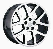 "4 20"" Mach. Black Staggered Viper 300C Challenger Charger Wheels Rims &Tires pkg"