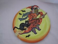 Fitz and & Floyd Witch Hazel Canape Plate NEW Halloween Plate MINT in Box