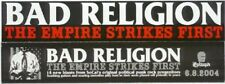 Bad Religion Empire Strikes First 3 Promo Stickers for cd Mint!