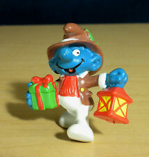 Smurfs Christmas Gift Smurf Lantern Vintage Figure Present Classic PVC Toy 20201