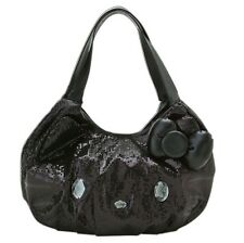 Sanrio Hello Kitty Face Black Sequin Shoulder Bag Big Adult Size NEW! GORGEOUS
