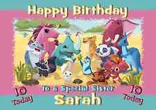 animal jam A5 personalised birthday card daughter sister niece friend name age