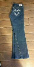 True Religion Joey Womens Low Rise Blue Jeans Size 28 Nice