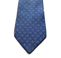 Salvatore Ferragamo Mens Neck Tie Blue 100% Silk Made In Italy