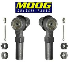 NEW Pair Set of Front Outer Steering Tie Rod Ends MOOG fits Nissan ES2814RL