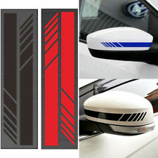 2 Pairs Blue Car SUV Vinyl Graphic Mirror Body Stickers Side Stripe Decal Usual