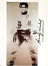 ANDY WARHOL HAND SIGNED SIGNATURE * DOUBLE ELVIS *  PRINT  W/ C.O.A