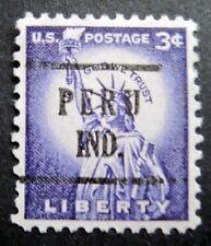 Sc # 1035 ~ 3 cent Liberty Issue, Precancel, PERU IND. (ba8)