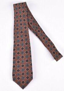 ISAIA NWT Wool Neck Tie In Deep Orange & Grays & Black Current 7 Fold