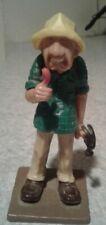 Wilton Vintage 1980 Old Man Cake Topper Plastic Figurine Hammer Thumb