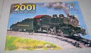 K-LINE ELECTRIC TRAIN Catalog - 2001 - Second Edition - EUC!