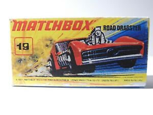 Matchbox Superfast No 19 ROAD DRAGSTER Repro  style I empty Box