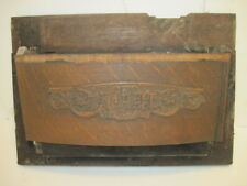 W OLD CAST IRON WHITE TREDDLE SEWING MACHINE WOOD FRONT COVER PARTS