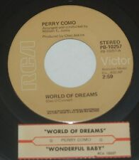 Perry Como 45 World Of Dreams / Wonderful Baby  w/ts