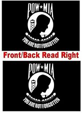 Double Sided POW MIA 4x6 Flag High Wind Quality 2-Ply Poly Made in The USA