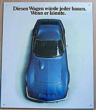Älteres Blechschild  Oldtimer PKW Opel GT gebraucht used