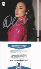 """Beckett Pop Star Demi Lovato Signed """"I Love Me"""" Cd Cover-Insert V76757"""