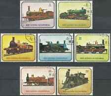 Timbres Trains Guinée équatoriale 120/PA106 o lot 16910