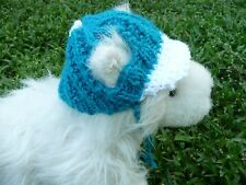 XS handmade knit dog hat