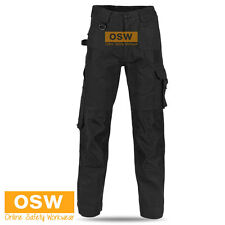 5 X MENS AIR FLOW WORK TROUSERS TRADIE BUILDER COTTON CARGO PANTS 10-POCKETS