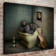 Naughty little monkey HD Print on Canvas Home Decor Picture Room Wall Painting
