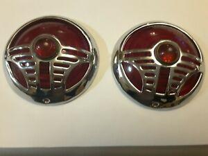 1937 1938 DeSoto Tail Lights bezels pair.