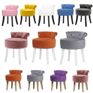 Bedroom Dressing Table Stool Padded Home Make-Up Vanity Dining Chair Guest Seat