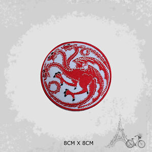 Game Of Thrones Targaryen  Movie Iron On Patch Sew On Embroidered Patch Badge
