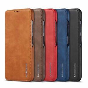 Flip PU Leder Stoßfest Case Kartenfach Stand Schutzhüllen Für iPhone XS Samsung