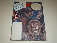 [DESSIN PRESSE BD] MARCEL THIERRY J.DES VOYAGES Art Cover GOUACHE ORIGINAL Lions