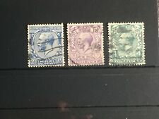 Scott #163-165 1912-13 Great Britain Stamp Used