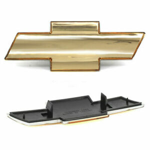 Front Grille Bowtie Emblem Gold Fits 2000-2002 Silverado 1500 2500 HD 3500