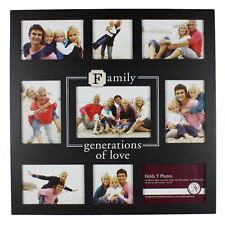 Family Large Black Sentiment Collage Multi Photo Frame Pictures Gift Nv303