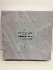 Royal Doulton Maze Grill Dinner Plates 11 In. Gordon Ramsay 4pc Set White