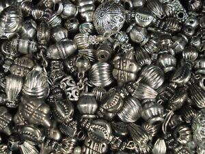 Metal Beads Asst Shapes 50g Spacers DIY Jewellery Tibetan Bracelet FREE POSTAGE