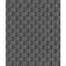 Erismann Leather Square Pattern Wallpaper Realistic Metallic Textured Motif Roll