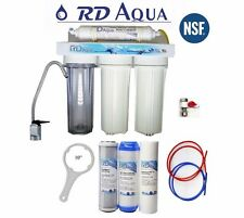 Under Sink 4 Stage Water Filter System Lead Free NSF Certified
